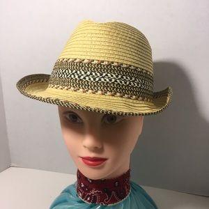 Paper Yarn Fiber Straw Panama Fedora Boho Hat